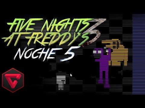 FIVE NIGHTS AT FREDDY'S 3: ¡SPRINGTRAP ES EL HOMBRE MORADO! - iTownGamePlay   FNAF3 (Noche 5)