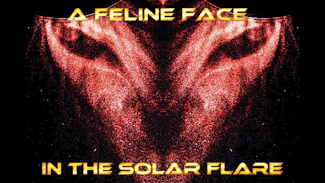 A Feline Face in the Solar Flare, on Nasa Lasco C2