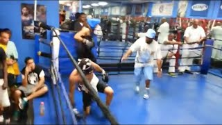 UNRELEASED FOOTAGE TEOFIMO LOPEZ VS GERVONTA DAVIS SPARRING