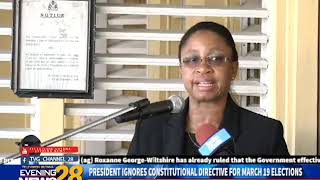 PRESIDENT IGNORES CONSTITUTIONAL DIRECTIVE FOR MARCH 19 ELECTIONS 2 15 2019