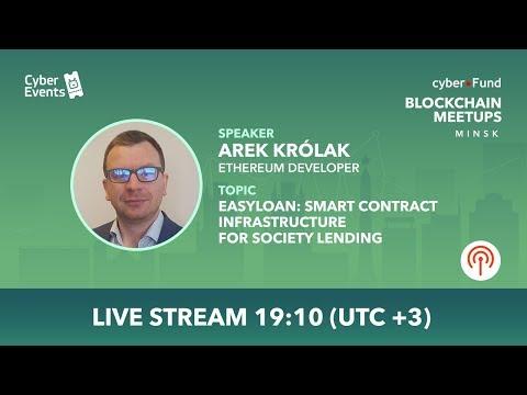 EasyLoan - smart contract infrastructure for society lending | Arek Królak (Live Stream)