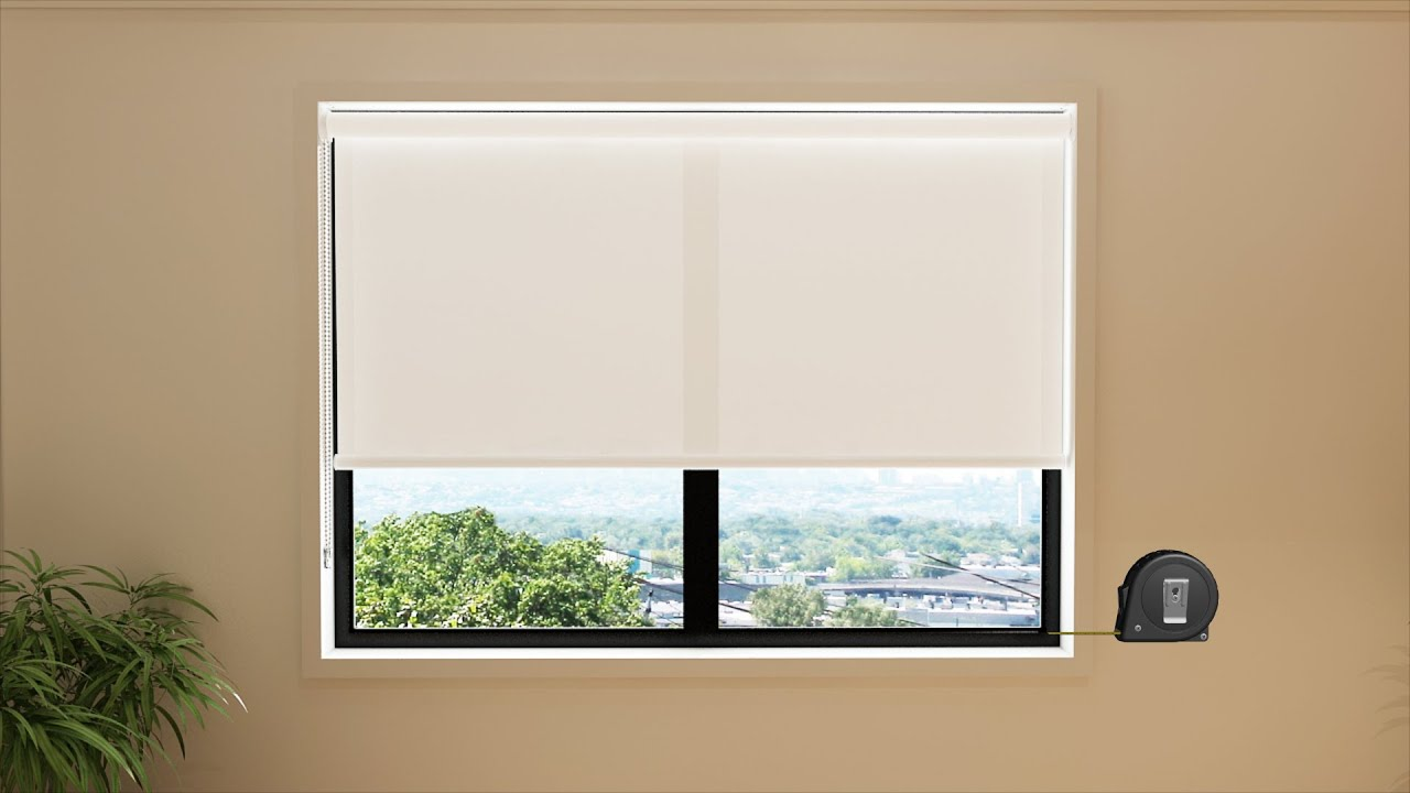 How to Measure: Recess Fit Blinds (Inside the window frame) - YouTube