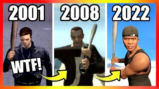 Evolution of BASEBALL BAT LOGIC in GTA Games (2001-2021)
