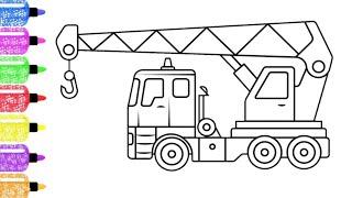 Belajar Menggambar Truk Derek Mobile Crane Youtube