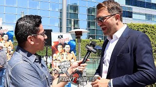 "EDDIE HEARN SAYS JOSHUA REPLACEMENT ANNOUNCED THIS WEEKEND ""I LIKE ANDY RUIZ, HE HAS MASSIVE HEART"""