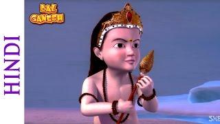 Bal Ganesh - Karthikeya Derrotas Tarkasur - Los Niños De Dibujos Animados De La Película