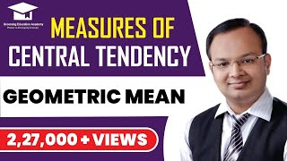 #14 | Measures of central tendency | Geometric mean