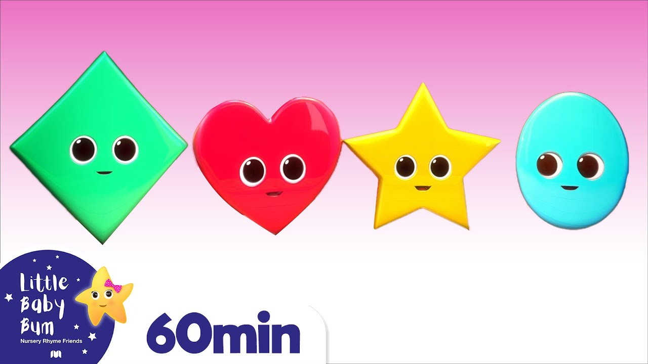 Color Shapes Song +More Nursery Rhymes and Kids Songs | Little Baby Bum