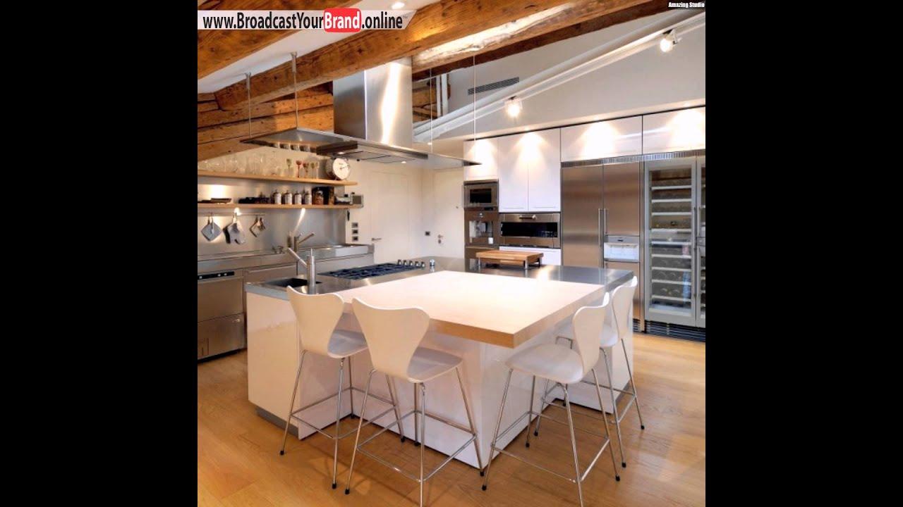 Private Penthouse Wohnung Küchen Weiße Möbel - YouTube