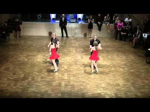 Jive-Einlage der Tanzschule Strömsdörfer