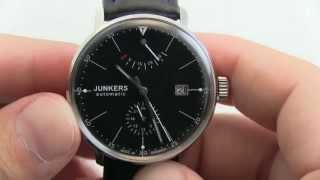 Junkers German Automatic Bauhaus Watch with Power Reserve 6060-2