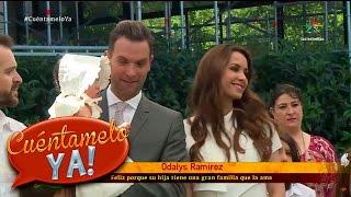 ¡Odalys Ramírez y Patricio Borghetti bautizan a su pequeña Gia! | Cuéntamelo YA!