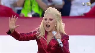 Mujeres Engañadas Lady Gaga Sings the National Anthem at Super Bowl 50