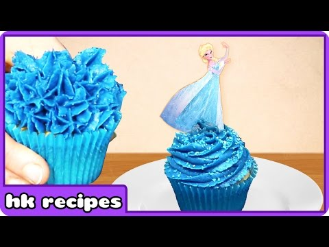 Disney Frozen Sparkle Princess Elsa Cupcakes | Birthday Cupcakes | HooplaKidz Recipes
