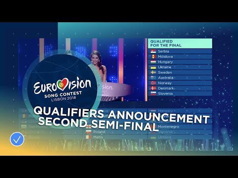 The Announcement Of The Qualifiers In The Second Semi-Final Of The 2018 Eurovision Song Contest