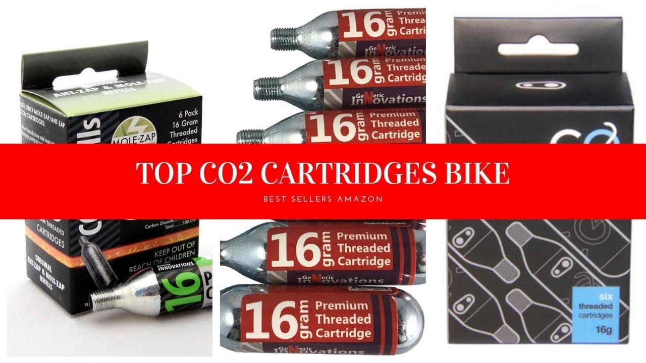 Redrock Bike Tire Inflator /& 3 packs of 5 16 gram Threaded CO2 Cartridges