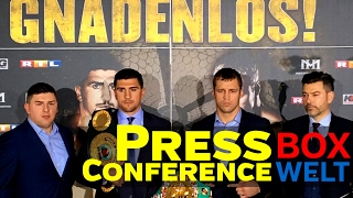 Huck vs Briedis - FIRST PRESS CONFERENCE - 06.02.2017 - Dortmund