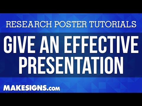 Effective Poster Presentations For Your Research ...