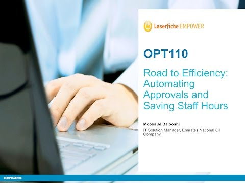 Emirates National Oil Company: Road to Efficiency - Automating Approvals and Saving Staff Hours