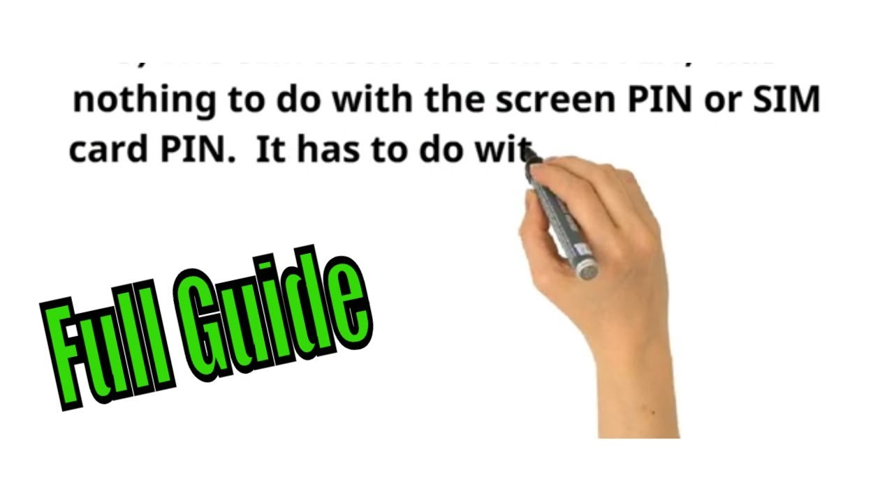 How to unlock using: Sim Network Unlock Pin and Master Code