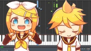 Electric Angel [えれくとりっく・えんじぇぅ] - Kagamine Rin & Len (Piano Synthesia)