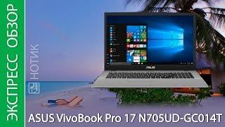 Экспресс-обзор ноутбука ASUS VivoBook Pro 17 N705UD-GC014T
