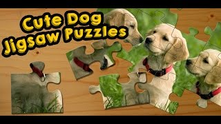 Dogs and Puppies Jigsaw Puzzles Game for Kids - App Gameplay video