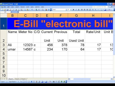 how to create e bill sheet using formula s in ms excel princes of