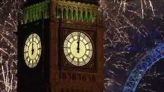 Новогодний фейерверк в Лондоне 2015. Allvideo.
