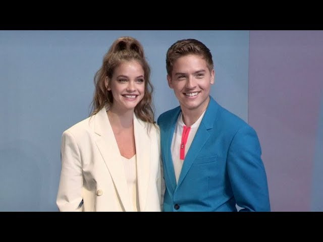 Barbara Palvin and Dylan Sprouse front row for the Boss Fashion Show in Milan
