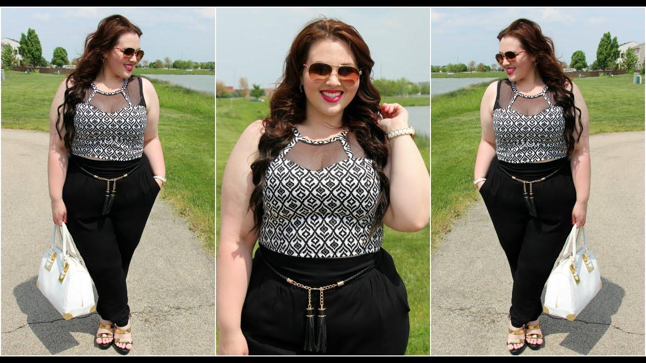 85bcac187c7f6f Plus Size OOTD  Crop Top   Living Doll LA. Sarah Rae Vargas