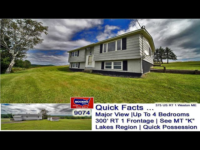 Vacation Home For Sale In Maine | East Grand Lake Region Raised Ranch MOOERS REALTY 9074