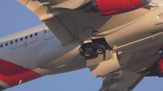 Kenya Airways 787 Close up Gear Departure London Heathrow Airport