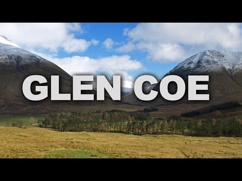 Glen Coe, a Spectacular Volcanic Glen in the Highlands of Scotland