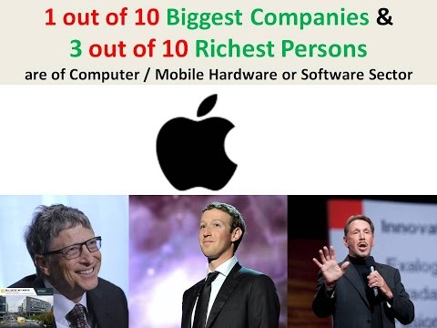Big Companies in Computer and Mobile Hardware or Software Sector