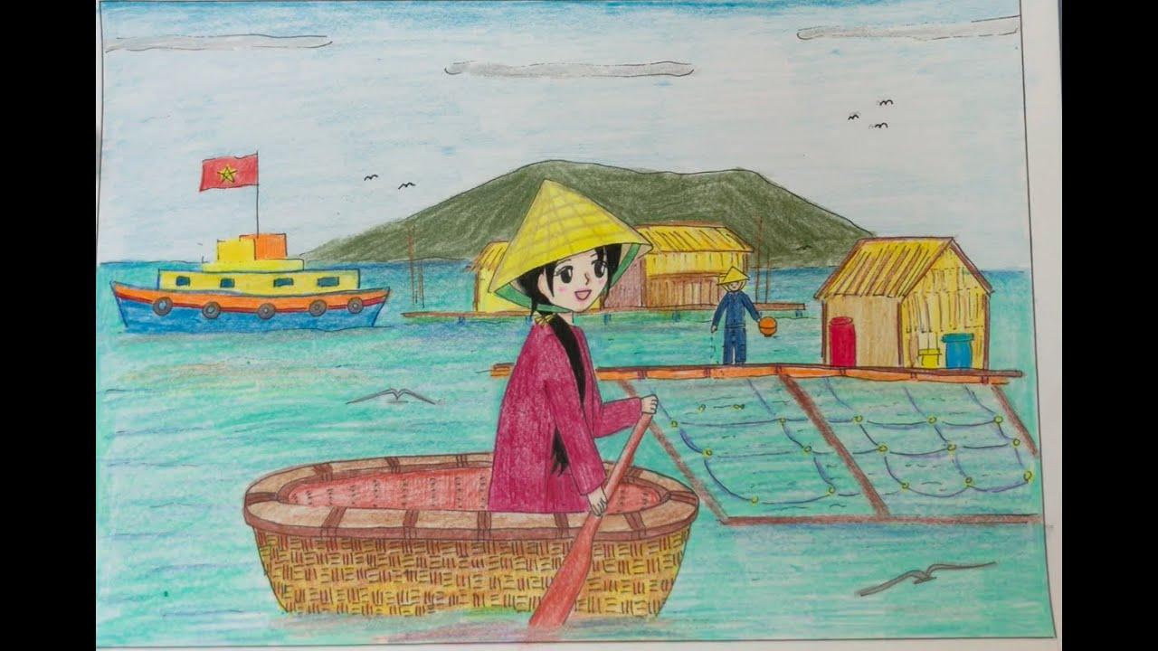 Vẽ tranh:  Đề tài Quê hương em 5/6 (Mỹ thuật lớp 6) – Linh Kid | Tổng quát những kiến thức nói về tranh vẽ đề tài quê hương em lớp 6 mới cập nhật