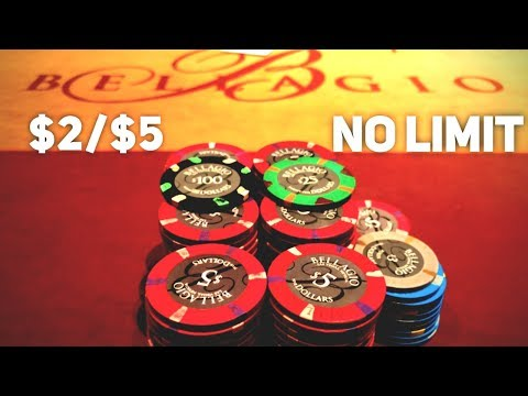 $2/$5 No Limit Texas Hold'em At The Bellagio!