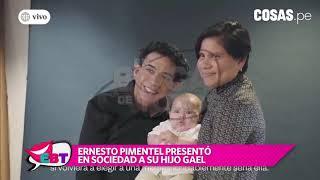 Ernesto Pimentel presentó a su hijo Gael en conmovedora entrevista