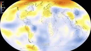 Las anomalías en las temperaturas de la Tierra (1880 -2013)
