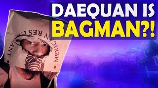 DAEQUAN IS BAGMAN?! | DEFENSE AGAINST STREAM SNIPERS | HIGH KILL FUNNY GAME (Fortnite Battle Royale)