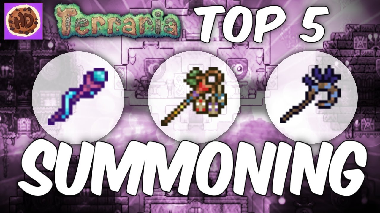 Terraria Top 5 Summoning Weapons New Weapons 1 2 Youtube