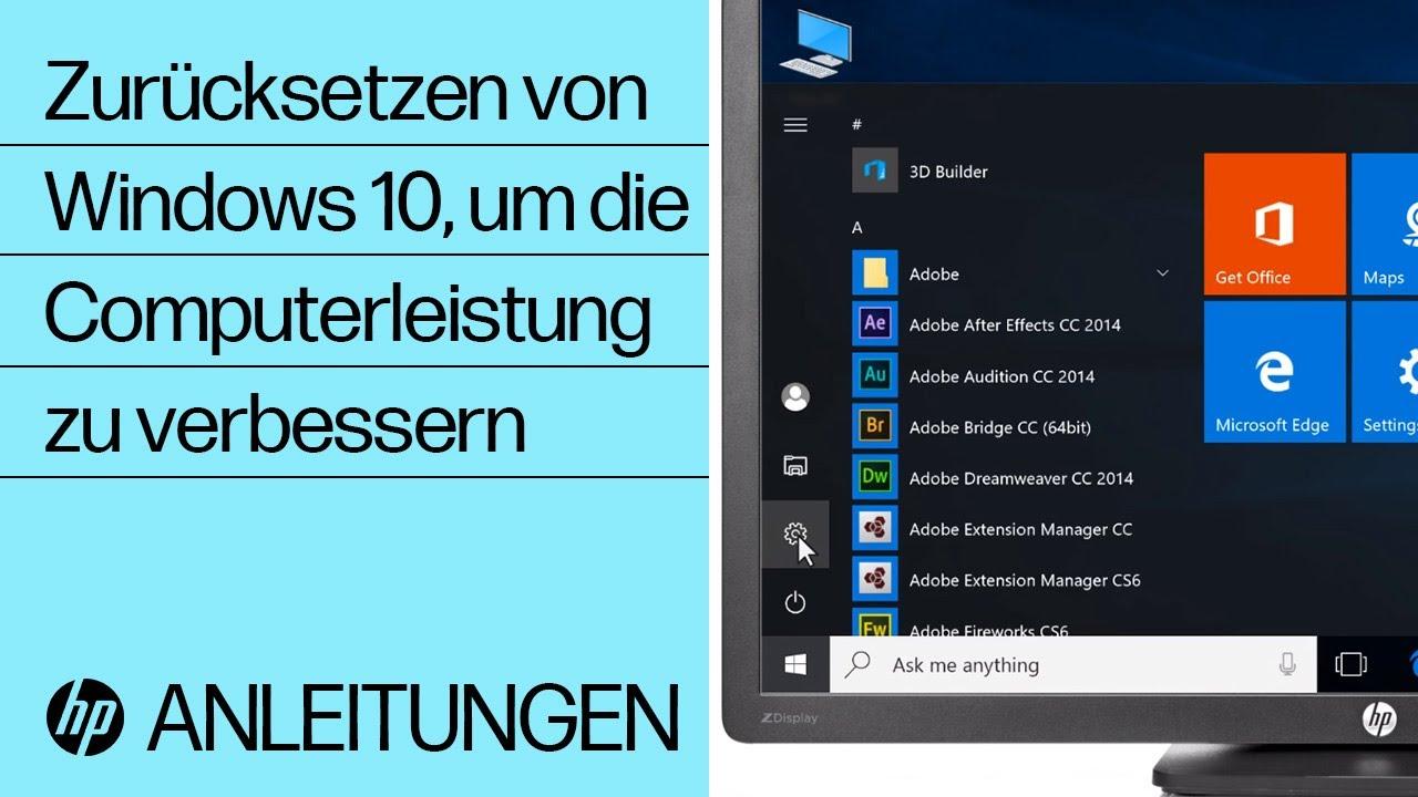 Windows Vista Zurücksetzen