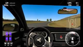 Online PC Simulator Simraceway.com - Lancer Evo X - Infineon gameplay HD
