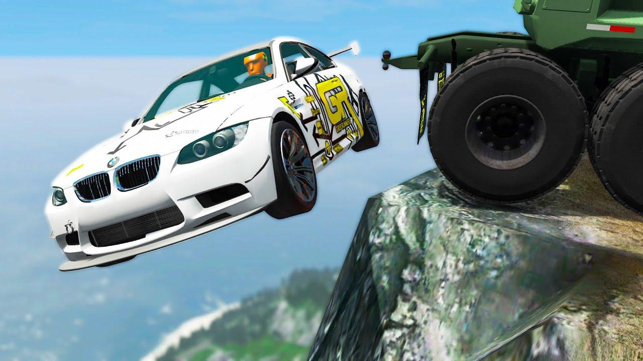 Cliff Drops Car Crashes #18 - BeamNG Drive | CRASHdriven