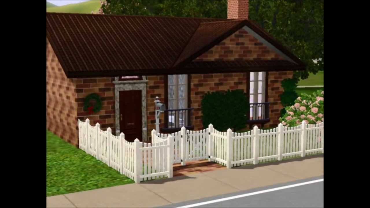 Building a small cute house sims 3 youtube for Photos of cute houses