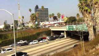 "Band ""Imperial Stars"" blocks 101 freeway in Los Angeles video 2 (short)"