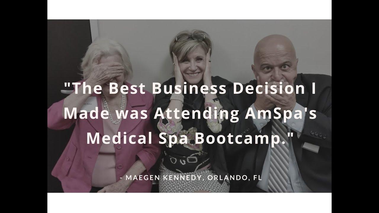 AmSpa Medical Spa Boot Camp Testimonials