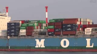 [船]MOL ENTERPRISE Container ship コンテナ船 OSAKA 大阪港 2013-APR