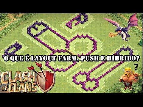Clash of clans: O que é layout Farm, Push e Híbrido?