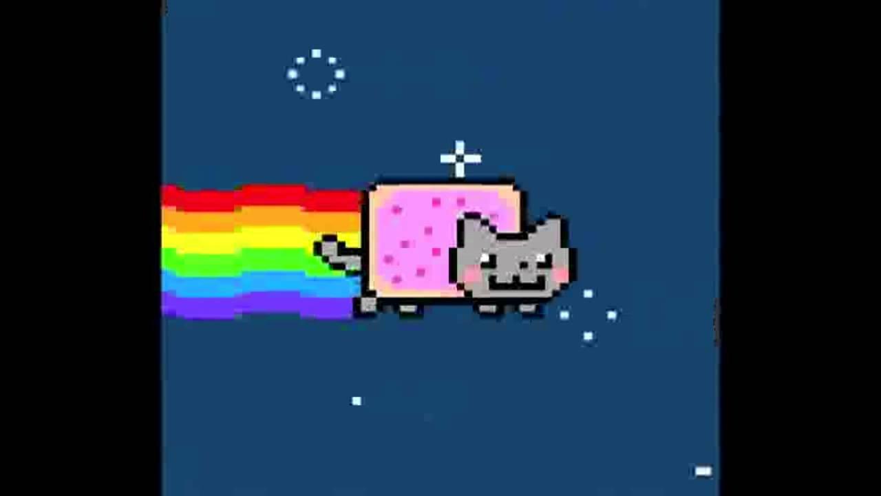 Nyan Cat Black Midi